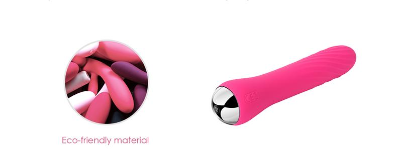 Eco-friendly material powerful warming vibrator