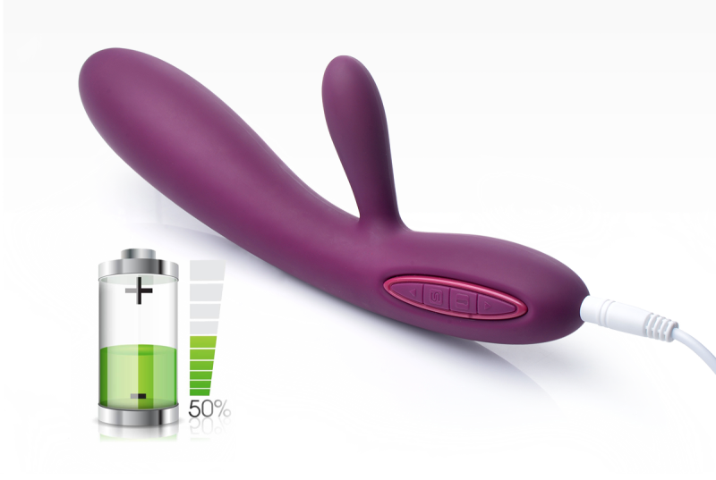 Rechargeable Rabbit Vibrator g spot top heating vibe
